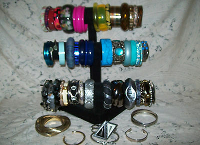 50 Piece Vintage & Modern Mixed Bangle/Cuff Bracelet Lot