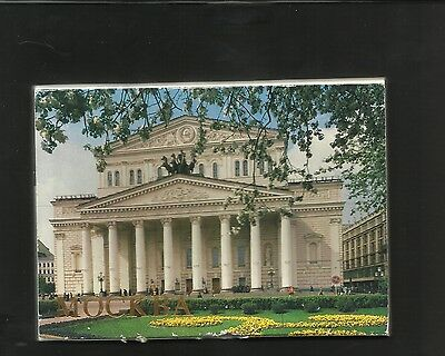 Set of 18 Moscow Postcards in Wallet  Mockba 1989 unposted