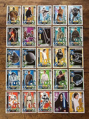 Star Wars - Force Attax 2017 (TOPPS collector cards) 25 x Cards Mixed Lot #01.