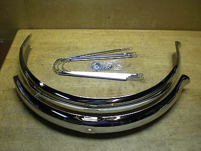 "Schwinn Approved Mens 26"" Bicycle Chromed Cruiser Fender Set"
