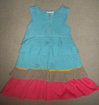 Girls Ra Ra Style Summer Dress By M&s Age 3 - 4 Years