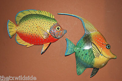 "New,8"",pair,tropical,fish,sealife,bath,nautical Decor,beach Decor, 247 - 100"