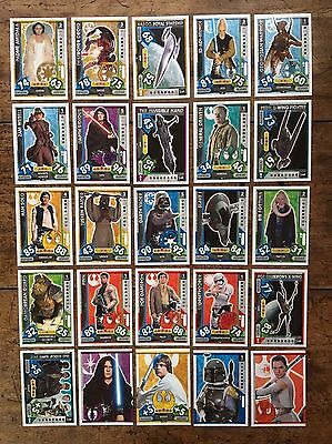 Star Wars - Force Attax 2017 (TOPPS collector cards) 25 x Cards Mixed Lot #07.