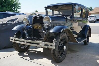 1931 Ford Model A  1931 Ford Model A Fordor 4 Door Sedan Survivor