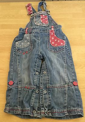 girls next dungarees age 12-18 months
