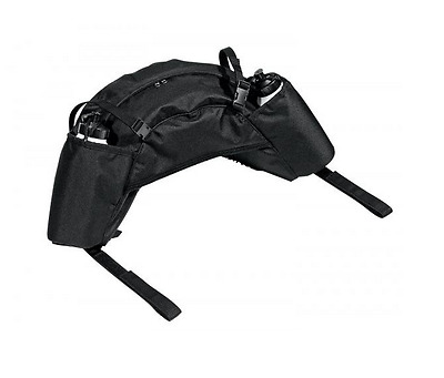 New Busse Black Banana Saddle Pannier/Bags With Double Water Bottles 119301