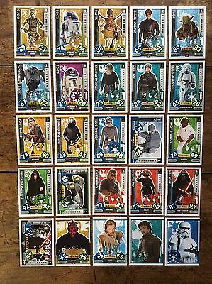 Star Wars - Force Attax 2017 (TOPPS collector cards) 25 x Cards Mixed Lot #08.