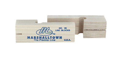 MARSHALLTOWN The Premier Line 86 3-3/4-Inch Wood Line Blocks (Pair)