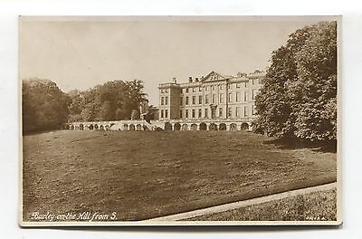 Burley-on-the-Hill Mansion - old Rutland real photo postcard