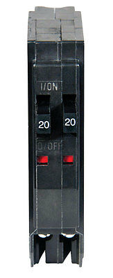 Square D  QOT  Tandem/Single Pole  20/20 amps Circuit Breaker