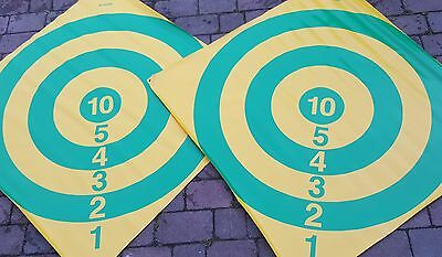 ACCLAIM 4 x Reject Bowls Target Diamond Bowling Scoring Game Yel Gren Design 48""
