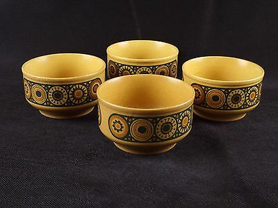 """Set of Four Ironstone Bowls by Kiln Craft Staffordshire - Bacchus (2.6"""" x 4.5"""")"""