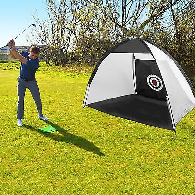 Portable Golf Training Net Practice Driving Chipping Soccer Cricket Target Tent.