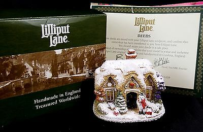 Lilliput Lane Snow Cottage Snowflake Mint in Box with Deeds L2628