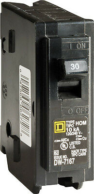 Square D  HomeLine  Single Pole  30 amps Circuit Breaker