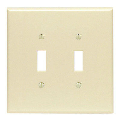Leviton  2 gang Ivory  Thermoset Plastic  Toggle  Wall Plate  1 pk