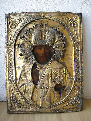 Icona Russa,Antique Russian Orthodox icon,,St.Nicholas,,from 19c.
