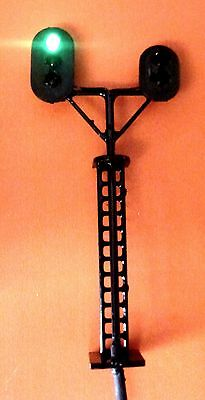 1 xN Gauge LEDs Made 2 side Railroad Branch Signals 2 aspects+3 aspects:48mmTall