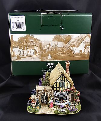 Lilliput Lane The Flower Basket Dunster House Mint in Box with Deeds