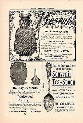 1897 Uncle Tom's Cabin Souvenir Spoon Ad-Harriet Beecher Stowe