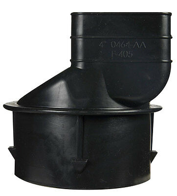 ADS  3-1/4 in. Dia. x 2-1/2 in. Dia. Polyethylene  Downspout Adapter