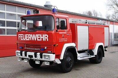 Magirus Deutz FM 130D 4x4 firefighter engine truck tank 2750l top condition!