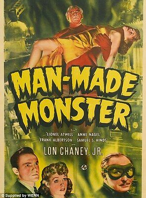 """VINTAGE Horror movie poster A2 CANVAS PRINT  16""""X 24"""" F"""