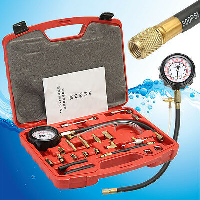 TU-114 Manometer Fuel Injection Pressure Tester Injector Gauge Gasoline Tool Kit