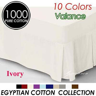 High Quality 1000TC Egyptian Cotton High Quality Valance Queen Size-Ivory