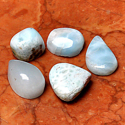 Wholesale Lot 5 Pcs Aquamarine Gemstone Cabochon Loose  AUK96