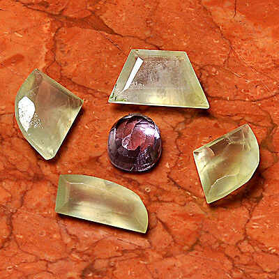 Gemstone Lot 5 Pcs Prehnite Cabochon Loose Gem Cab AUK99