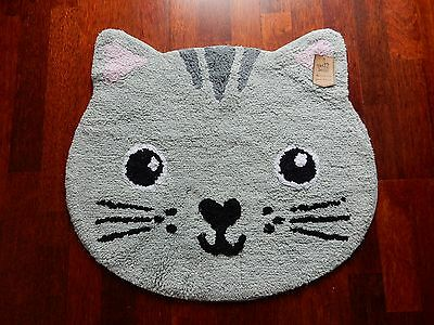 Nori Cat Kawaii Friends Rug - Cat Mat - Nursery Rug Childrens Bedroom Rug Kitten