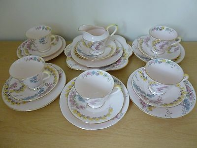 Plant Tuscan China Tea Set - 5715H - Vintage - Shabby Chic - Pink