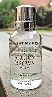Molton Brown 50Ml Coco & Sandalwood Body Wash - Perfect Travel Size!! Free P&p!!
