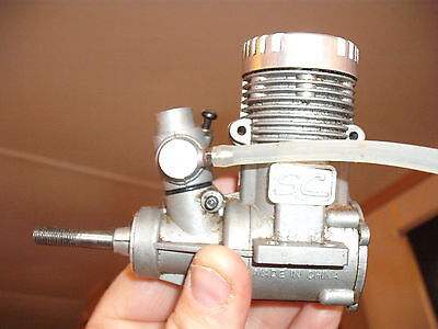 SC 46   Nitro   plane Engine  with exhaust and carb   CLEAN ENGINE £12.99