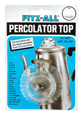 Fitz-All  Glass  Replacement Percolator Top  Clear