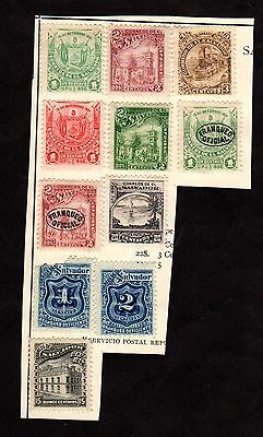 Stamps ~ SALVADOR ~ Early Unused