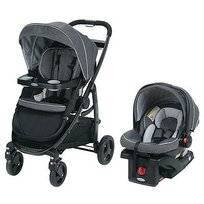 Graco Modes Travel System with SnugRide Click Connect 35 Infant Car Seat - Grays