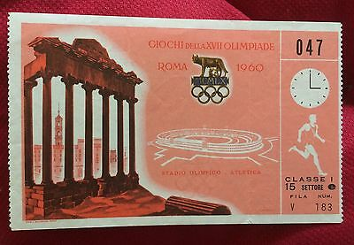 billet ticket JO jeux olympiques ROME 1960 olympic game