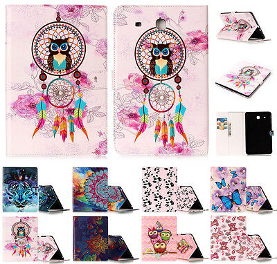 """Leather Magnetic Cover & Folio Stand Case for Samsung Galaxy Tab SM-T560 E 9.6"""""""
