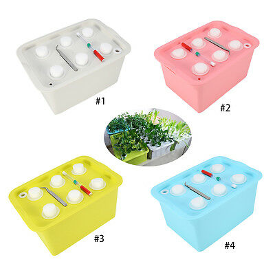 6 Holes Plant Site Hydroponic System Grow Kit Bubble Indoor Garden Patio Box EB