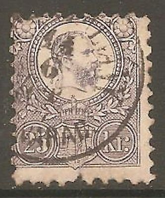 HUNGARY 1871 25k Dull Lilac SG 13 Used (Cat £140)