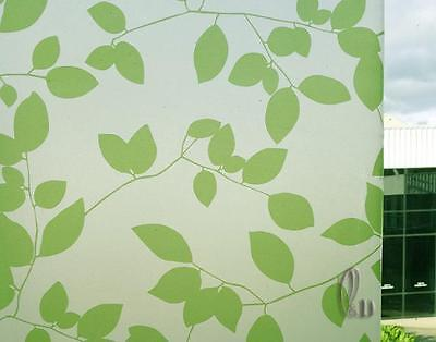 90cmx5m Leaves Privacy Frosted Frosting Removable Glass Window Film c2037
