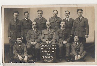 Church Army Route March, Worcester to Blackpool Real Photo Postcard, B447