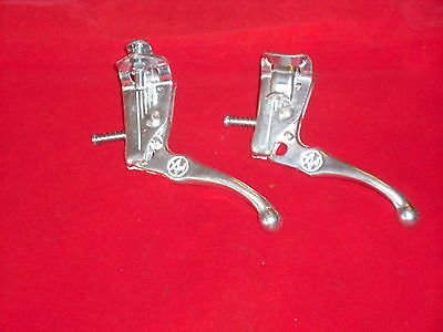 BMX Old School Bicycle Brake Levers,Dia-Compe Style,Invicta New.SILVER