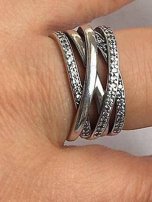 Genuine Pandora Silver Entwined ring  S925 ALE