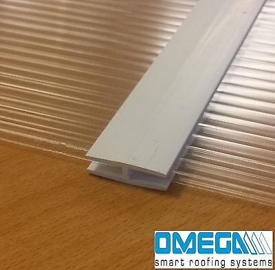 Joining Strip for 4mm Polycarbonate Sheets, H Section / Trim, 610mm or 1000mm