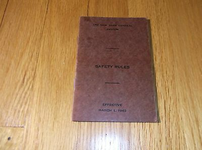 March 1943 New York Central Nyc Safety Rules