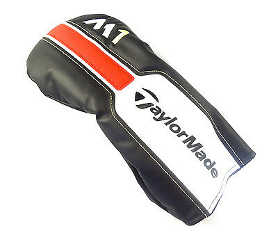 NEW TaylorMade M1 Black/White/Red Leather Driver Headcover