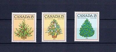 canada stamps sg1023/5 Bicentenary of First Illuminated Tree  1981... Mint ...